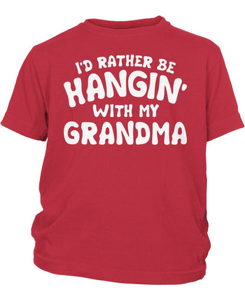 I'd Rather Be Hangin' with My (Nickname) - Children's T-Shirt - Youth T-Shirt / Red / Y-XS