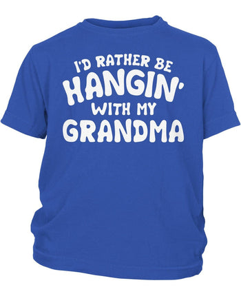 I'd Rather Be Hangin' with My (Nickname) - Children's T-Shirt - Youth T-Shirt / Royal / Y-XS