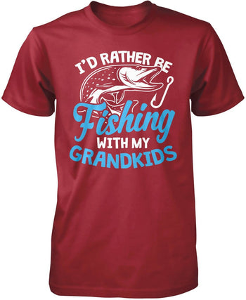 I'd Rather Be Fishing with My Grandkids - Premium T-Shirt / Cardinal / S