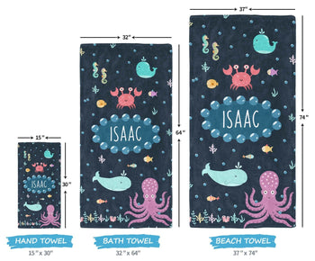 Under the Sea - Personalized Towel - [variant_title]