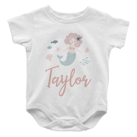 Mermaid - Personalized Baby Bodysuit