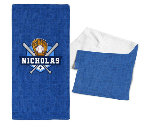 Baseball - Personalized Towel - Towels