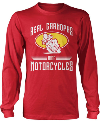 Real Grandpa's Ride Motorcycles Longsleeve T-Shirt
