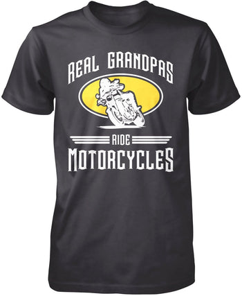 Real Grandpa's Ride Motorcycles T-Shirt
