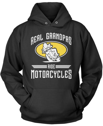 Real Grandpa's Ride Motorcycles Pullover Hoodie Sweatshirt