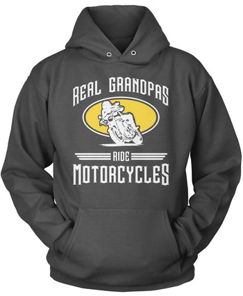 Real Grandpa's Ride Motorcycles - Pullover Hoodie / Dark Heather / S