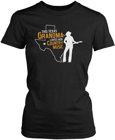 This Texas Grandma Loves Country Music Women's Fit T-Shirt