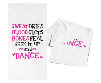 Suck It Up and Dance - Gym / Kitchen Towel - White
