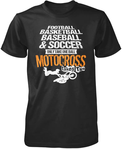 Motocross Takes Two Balls T-Shirt