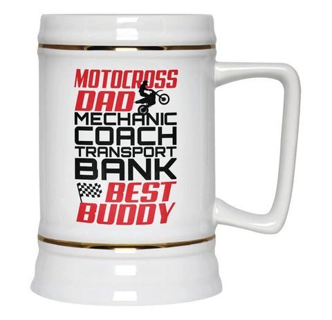 Jobs of a Motocross Dad - Beer Stein