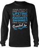 Favorite Swimmer - Mine Calls Me Grandad Long Sleeve T-Shirt