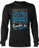 Favorite Swimmer - Mine Calls Me Grandpa Long Sleeve T-Shirt