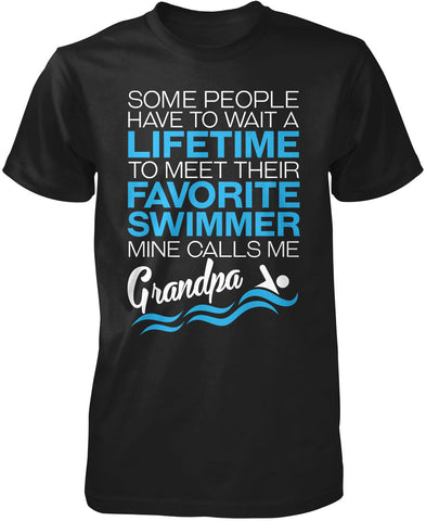 Favorite Swimmer - Mine Calls Me Grandpa T-Shirt