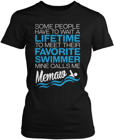 Favorite Swimmer - Mine Calls Me Memaw Women's Fit T-Shirt