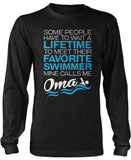 Favorite Swimmer - Mine Calls Me Oma Long Sleeve T-Shirt