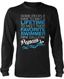 Favorite Swimmer - Mine Calls Me Papaw Long Sleeve T-Shirt