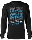Favorite Swimmer - Mine Calls Me Paw Paw Long Sleeve T-Shirt