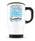 Favorite Swimmer - Mine Calls Me Gramps - Travel Mug