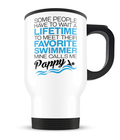 Favorite Swimmer - Mine Calls Me Pappy - Travel Mug