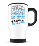 Favorite Swimmer - Mine Calls Me Pop - Travel Mug