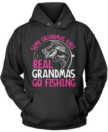 Some Knit Real (Nicknames) Go Fishing Pullover Hoodie