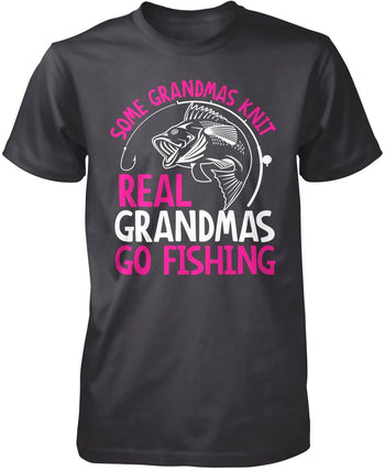 Some Knit Real (Nickname) Go Fishing - T-Shirt - Premium T-Shirt / Dark Heather / S