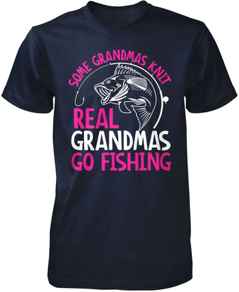 Some Knit Real (Nickname) Go Fishing - T-Shirt - Premium T-Shirt / Navy / S