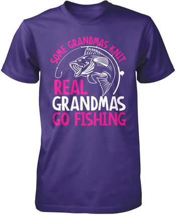 Some Knit Real (Nickname) Go Fishing - T-Shirt - Premium T-Shirt / Purple / S