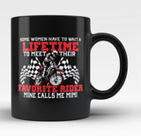 Favorite Motocross Rider - Mine Calls Me Mimi - Black Mug / Tea Cup