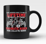 Favorite Motocross Rider - Mine Calls Me Nonna - Black Mug / Tea Cup