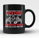 Favorite Motocross Rider - Mine Calls Me Paw Paw - Black Mug / Tea Cup