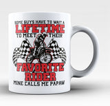 Favorite Motocross Rider - Mine Calls Me Papaw - Coffee Mug / Tea Cup