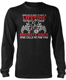 Favorite Motocross Rider - Mine Calls Me Paw Paw Long Sleeve T-Shirt