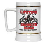 Favorite Motocross Rider - Mine Calls Me Pappy - Beer Stein