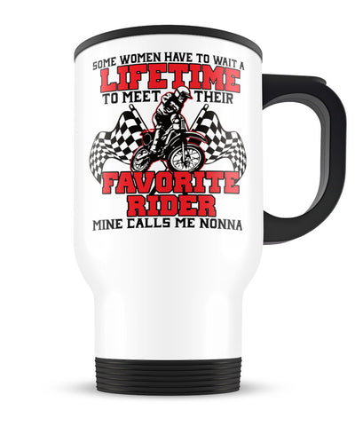 Favorite Motocross Rider - Mine Calls Me Nonna - Travel Mug