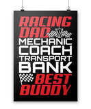 "Jobs of a Racing Dad - Poster - Black / Small - 12"" x 17"""
