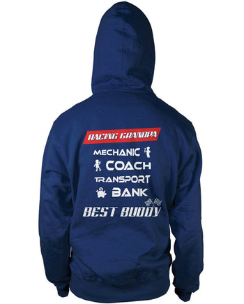 Jobs of a Racing Grandpa Pullover Hoodie Sweatshirt