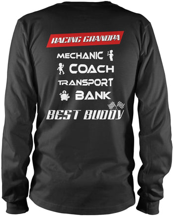 Jobs of a Racing Grandpa Longsleeve T-Shirt