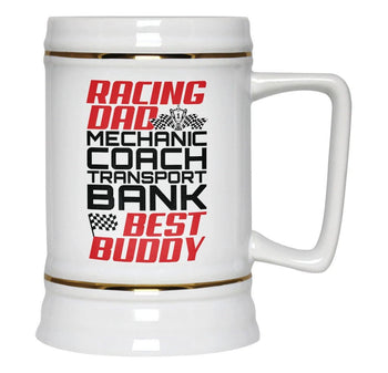 Jobs of a Racing Dad - Beer Stein