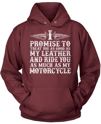 The Motorcycle Vow - Pullover Hoodie / Maroon / S