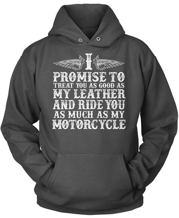 The Motorcycle Vow - Pullover Hoodie / Dark Heather / S