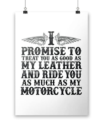 "The Motorcycle Vow - Poster - White / Small - 12"" x 17"""