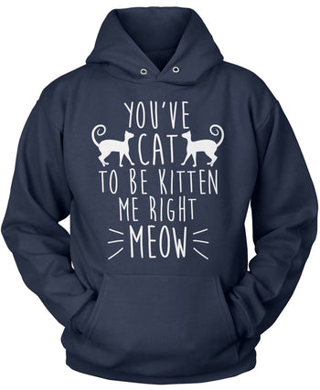You've Cat To Be Kitten Me - Pullover Hoodie / Navy / S