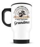 This Grandma Loves Football - Travel Mug
