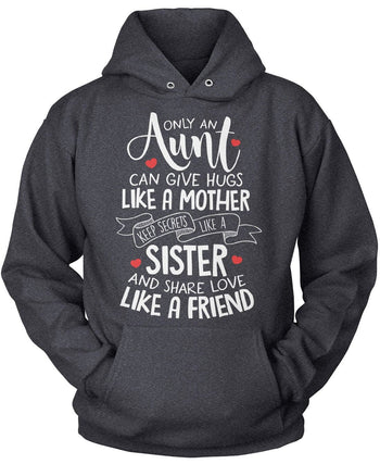 Only An Aunt Can - Pullover Hoodie / Dark Heather / S
