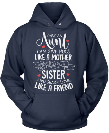 Only An Aunt Can - Pullover Hoodie / Navy / S