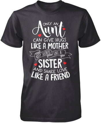 Only An Aunt Can - Premium T-Shirt / Dark Heather / S
