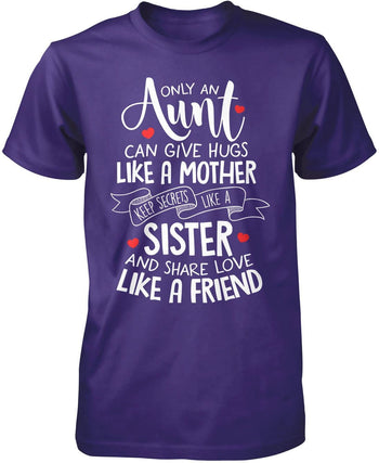 Only An Aunt Can - Premium T-Shirt / Purple / S