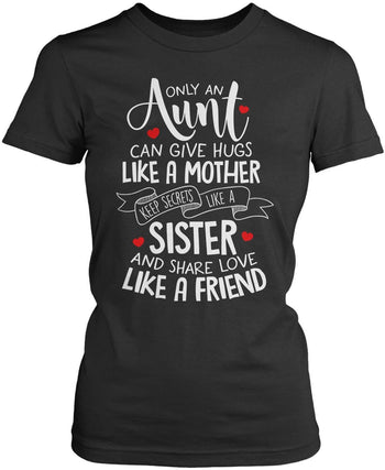 Only An Aunt Can - Women's Fit T-Shirt / Dark Heather / S