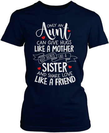 Only An Aunt Can - Women's Fit T-Shirt / Navy / S
